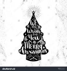 merry christmas black white hipster pine stock vector 339819560