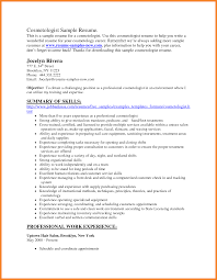 Cosmetologist Resume Examples Student Sample Resume New Cosmetologist Make A Business Plan