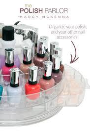 polish parlor rotating nail care caddy by marcy mckenna u2013 popular