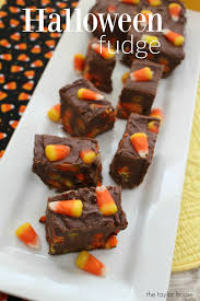 halloween fudge recipe with candy corn the taylor house