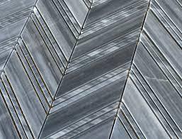 gray chevron 1x4 honed marble mosaic floor wall tile