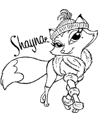 bratz coloring pages petz shayna coloringstar