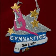 gymnastics personalized ornaments by