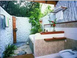 bathroom ideas luxury outdoor bathroom design with oval gray
