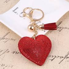 crystal key rings images Zosh heart keychain leather tassel gold key holder metal crystal jpg