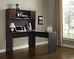 com ameriwood home the works l shaped desk cherry gray kitchen dining