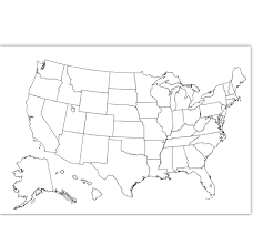 coloring map usa coloring page usa outline plain no labels