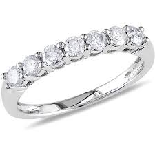 white gold eternity ring miabella 1 2 carat t w diamond semi eternity ring in 10kt white