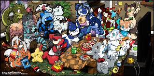 ych video game room party u2014 weasyl
