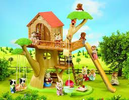 three house sylvanian families treehouse amazon co uk toys
