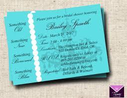 Bridal Invitation Cards Breakfast At Tiffanys Bridal Shower Invitation Card Custom