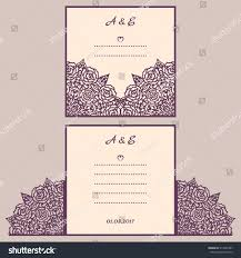 wedding cutout invitation template suitable lasercutting stock