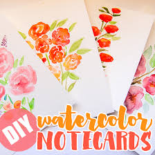watercolor notecards diy watercolor note cards daily