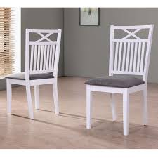 White Dining Chairs Minimalist Melbourne Island Pair Of White Dining Chairs With Grey