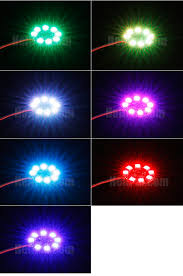 mini led light circle multi color 16v jst helipal