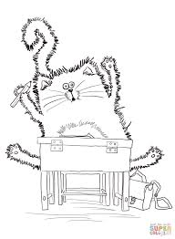 splat the cat back to coloring page free printable