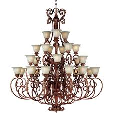 maxim lighting augusta 27 light auburn florentine multi tier