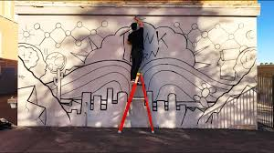 Sharpie Wall Mural Painting A Mural Youtube