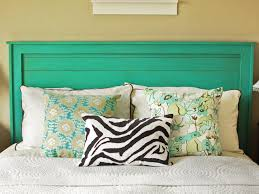 how to decorate a headboard rustic yet chic wood headboard hgtv