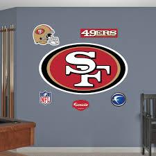 san francisco 49ers logo wall decals fathead san francisco 49ers logo wall decals