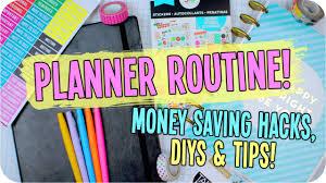 planner organization hacks diys u0026 money saving tips youtube