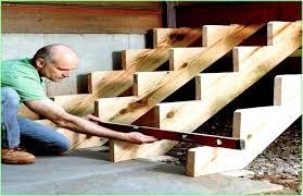 aufgesattelte treppen treppen selber bauen
