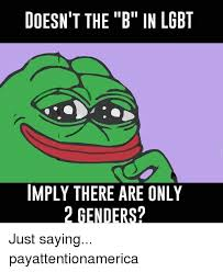 Lgbt Memes - doesn t the b in lgbt imply there are only 2 genders just saying