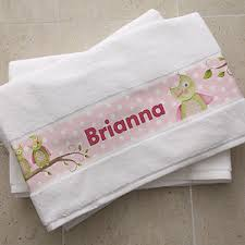 personalized bath towels owl about you