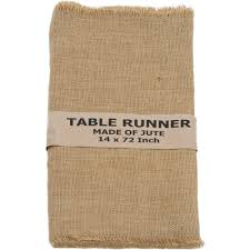 72 burlap table runner with fringed edge njf r12 craftoutlet