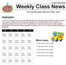 classroom newsletter template template haven