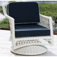 Vinyl Wicker Patio Furniture - everglades white resin wicker patio swivel club chair by lakeview
