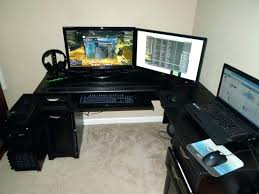 Best Computer Desk For Gaming Best Desk For Gaming Computer Computer Desk Setup Cheap L Shaped