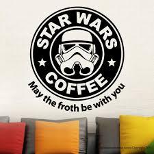 aliexpress com buy removable star wars coffee parody starbucks