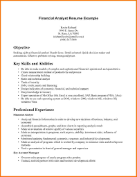 resume objective for analyst position best financial analyst