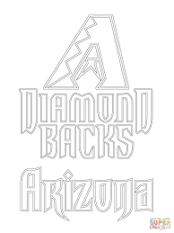 arizona diamondbacks logo coloring page free printable coloring