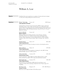 foreman carpenter construction worker resume template free