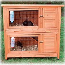 Large Rabbit Hutch Trixie Natura Two Story Rabbit Hutch Petco