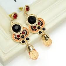 earrings malaysia hot sale black rhinestone big shaped drop earrings malaysia