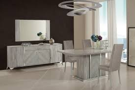domus alexa italian modern grey dining table set