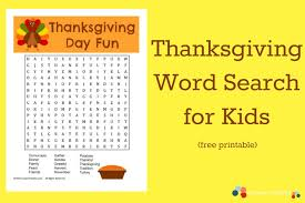 crayon freckles thanksgiving word search for free printable
