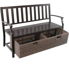 Better Homes And Gardens Wicker Patio Furniture - better homes and gardens camrose farmhouse bench with wicker