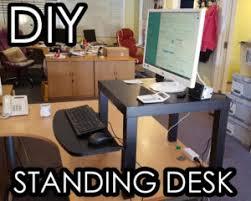 Diy Standing Desk by World U0027s Cheapest Diy Standing Desk