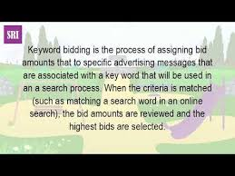 keyword bid what is a keyword bid