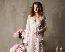 Nightgowns For Brides Long White Tulle Bridal Nightgown With Lace F11 Bridal