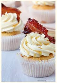 maple bacon cupcakes with a touch of whisky food equals happy me