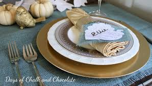 last minute thanksgiving table decor days of chalk and chocolate