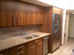 Galley Kitchen Cabinets Kitchen Impressive Dark Brown Varnished Bamboo Kitchen Cabinets