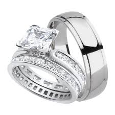 His And His Wedding Rings by His And Hers Wedding Rings Sterling Silver Titanium Stainless
