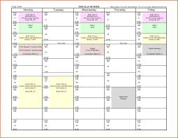 free weekly schedule templates for word 18 tem saneme
