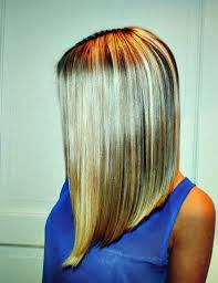 picture long inverted bob haircut black and blonde hair with inverted bob haircut for long straight